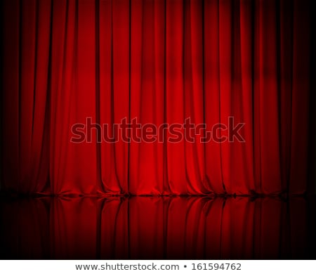 Stockfoto: Gordijn · theater · spotlight · Rood · film · licht
