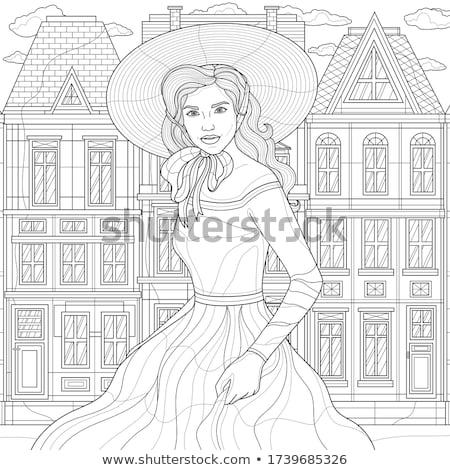 portrait woman in hat Stock photo © 26kot
