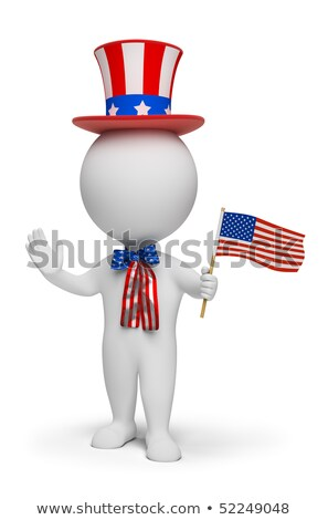 3d small people   independence day stock photo © anatolym