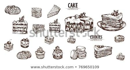 tekening · cake · kinderen · verjaardagstaart · borstel · baby - stockfoto © romvo