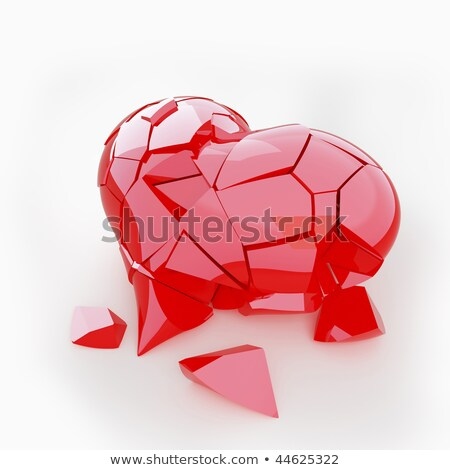 Red Broken Heart: disease or pain Stock photo © Arsgera