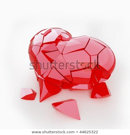 壊れた · 結晶 · 心臓病 · 痛み · 中心 · 愛 - ストックフォト © arsgera