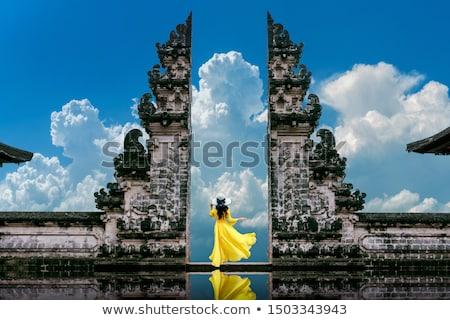 Bramy świątyni drzewo ogród drzwi złota Zdjęcia stock © Archipoch