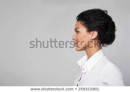 profile · femme · d'affaires · portrait · belle · jeunes · horloge - photo stock © nyul