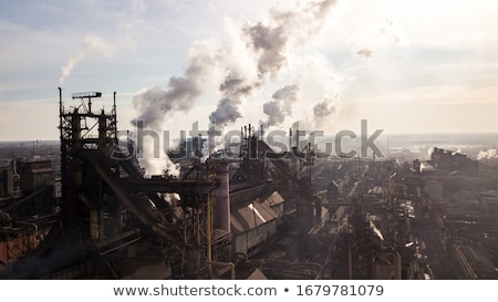 cheminée · feu · paysage · technologie · fond - photo stock © deyangeorgiev