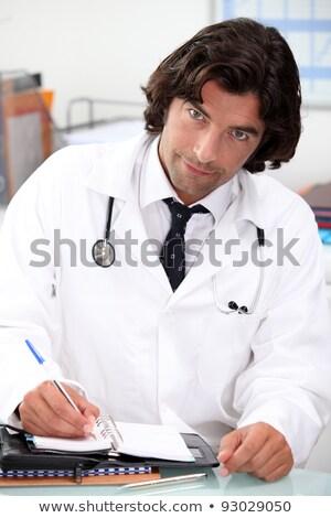 Guapo hospital médico escrito personal organizador Foto stock © photography33