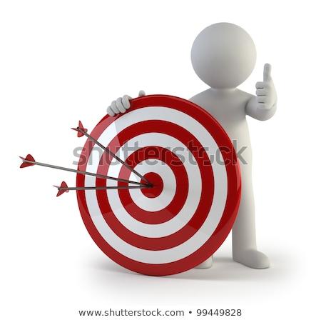 Zdjęcia stock: 3d Small People - Target