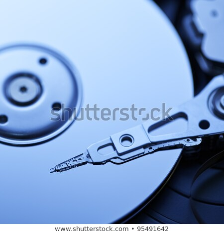 Hard disk, square composition. Shallow depth of field. Stock photo © moses