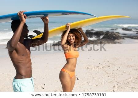 Bonito casal mar férias de verão em pé Foto stock © pkirillov