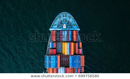 Porte-conteneurs port grue Italie eau bleu Photo stock © Antonio-S