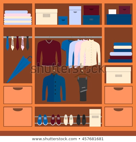 Packs a boy in the closet. stock photo © justinb