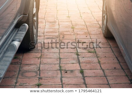 Line of cars parked close together Stock photo © ravensfoot