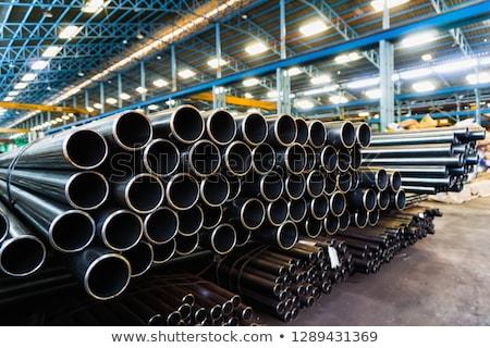 acél · csövek · egyezség · választék · kapcsolat · építkezés - stock fotó © ravensfoot