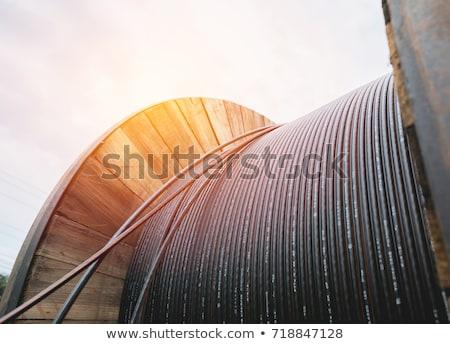 электрические кабелей старые стены внутри завода Сток-фото © schizophrenia