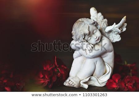 белый · Рождества · ангела · статуэтка · мягкой · серый - Сток-фото © gewoldi