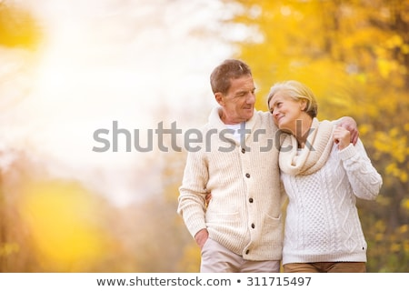 senior couple at autumn season Stock photo © photography33