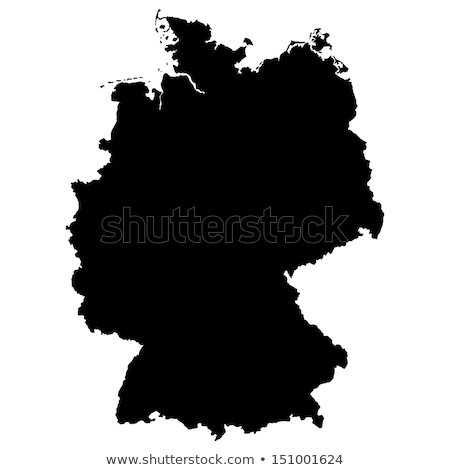 Vector kaart Duitsland kan Stockfoto © experimental