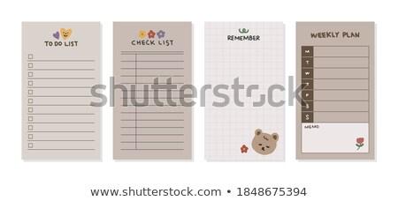 Dinheiro programar mensal calendário notas semana Foto stock © Ansonstock