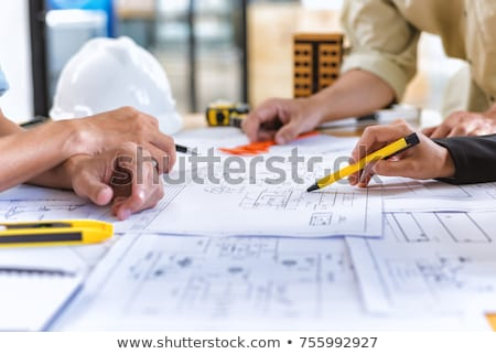 Architect and client on site Stock photo © photography33