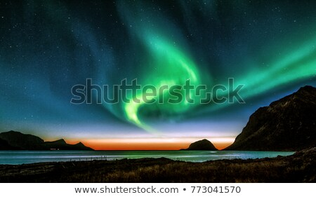 night shot northern lights stock photo © pictureguy