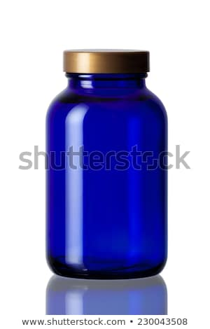blue pill bottle stock photo © devon
