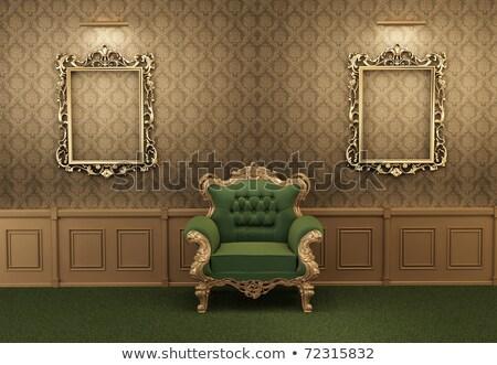 Barokowy ramki ściany galerii muzeum fotel Zdjęcia stock © Victoria_Andreas