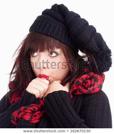 Young Woman Sucking Her Thumb Stock fotó © courtyardpix