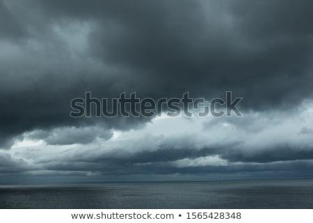 sea landscape with coast view storm sky with lightning stock photo © pilgrimego