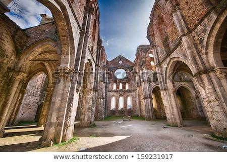 Abadía Toscana Italia edificio ventana iglesia Foto stock © wjarek