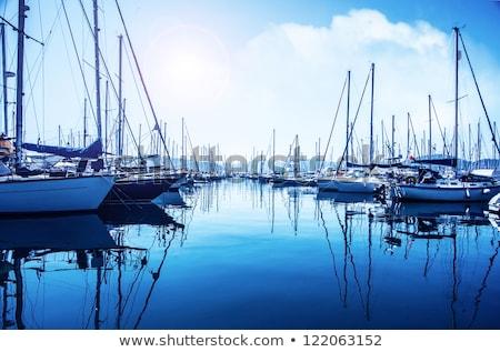 Tekneler liman küçük balık tutma fransız Stok fotoğraf © timwege