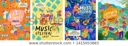 Musical najaar banner muziek blad achtergrond Stockfoto © carodi