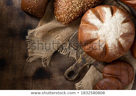 Wheat bread, grain and ears with eggs Stock photo © stevanovicigor