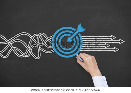Solution concept on blackboard Stock photo © ivelin