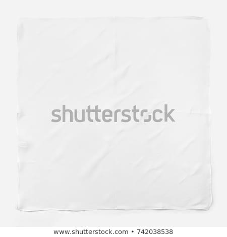 Lenço isolado branco papel cara mulheres Foto stock © shutswis