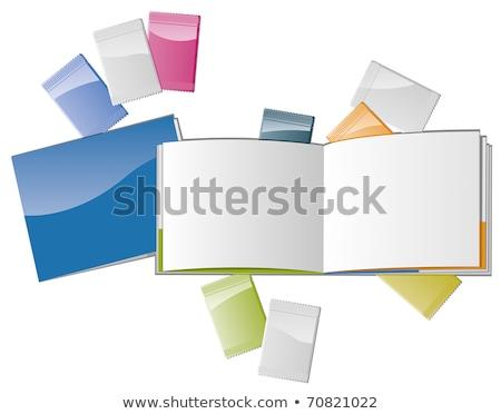 Abrir revista modelo cosmético escritório grupo Foto stock © fixer00