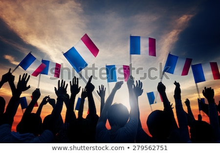 Woman waving the French flag Stock photo © photography33