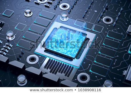 micro · chip · central · unidad · procesador · microchip - foto stock © idesign