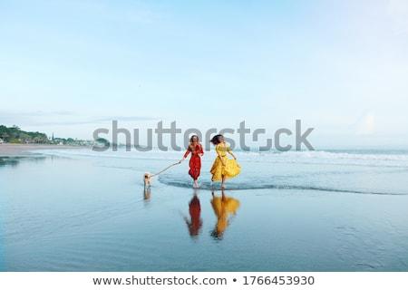 Mükemmel kadın deniz sahil resim genç Stok fotoğraf © Anna_Om