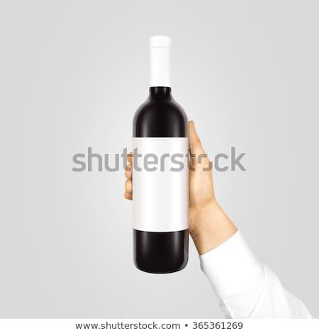 Waiter showing bottle Stock photo © photography33