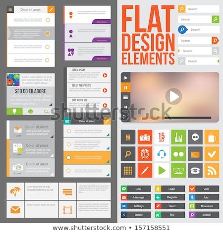 gebruiker · interface · communie · vector · eps10 · bestand - stockfoto © involvedchannel