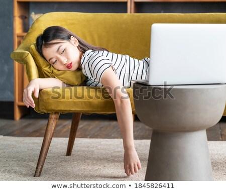 работник падение спящий компьютер студент ноутбука Сток-фото © photography33