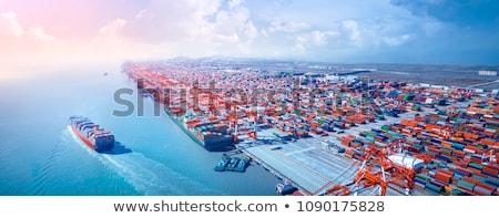 statek · towarowy · portu · duży · pomarańczowy · wody · przemysłowych - zdjęcia stock © witthaya