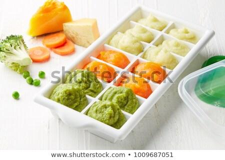 ice · cube · banana · isolado · branco · comida · abstrato - foto stock © Givaga