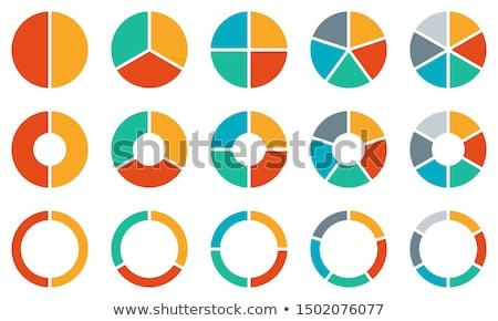 kördiagram · vektor · ikon · izolált · fehér · szerkeszthető - stock fotó © winner