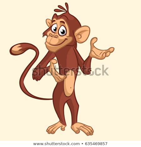 desenho · animado · macaco · macacos · posando · vetor - foto stock © dagadu