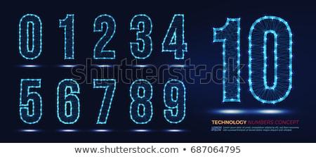 Dígito néon luz naturalismo escolas Foto stock © deyangeorgiev