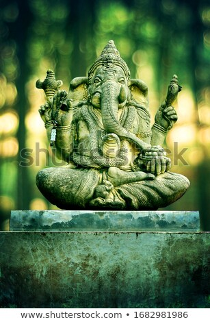 Concrètes sculpture vieux indian éléphant architecture Photo stock © pzaxe