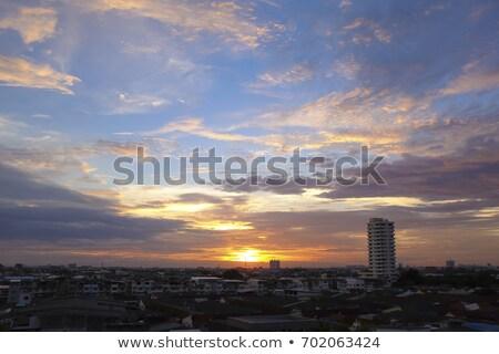 Dramático nascer do sol Boston centro da cidade céu escritório Foto stock © jaymudaliar