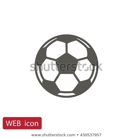 футбольным мячом икона иконки трава Футбол спорт Сток-фото © WaD