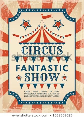 фантастический плакат цирка замечательный бумаги фон Сток-фото © tintin75